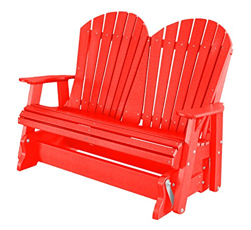 Heritage Glider - Little Cottage Company Lcc-104 Heritage 2 Seat Glider, Bright Red