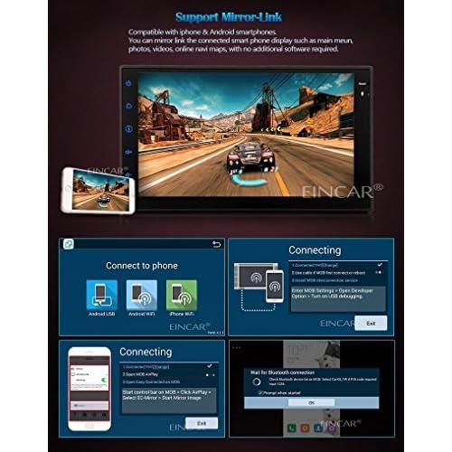 80%OFF 7 pouces Headunit Eincar Android 4.4 Double 2 Din Dash capacitifs HD Multi-touch ¨¦cran PC st¨¦r¨¦o voiture Navigation GPS Multimedia Tablet syst¨¨me AM / FM Radio Soutien commande au
