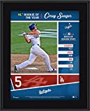"""Corey Seager Los Angeles Dodgers 10.5"""" x 13"""" 2016 National League Rookie of the Year Sublimated Plaque - Fanatics Authentic Certified"""