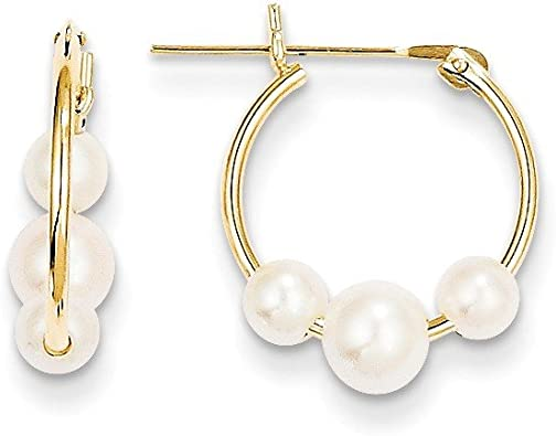 Gold Earrings Black Pearl Freshwater Pearl Gift For Her Gold Hoops Peach Pearl Pearl Jewelry Pearl Hoop Earrings Simple Earrings