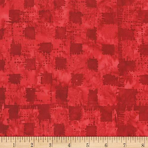 Anthology Batiks Anthology Art Inspired Batik Automat Gingham Heart, Fabric by the Yard