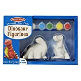 Melissa & Doug Decorate-Your-Own Dinosaur Figurines Craft Kit - Paint 2 Solid-Resin Dinosaurs