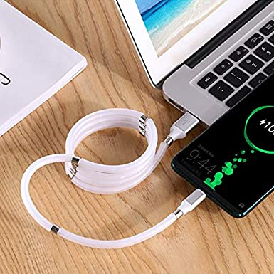 5.9ft-Type C Magnet Storage Data Cable,Self-Coiling Data Cable,Magnetic Cable,Type C Charging Cable,Magnetic Charger Cable,Micro USB Cable,USB Micro Cable,Type C Fast Charger