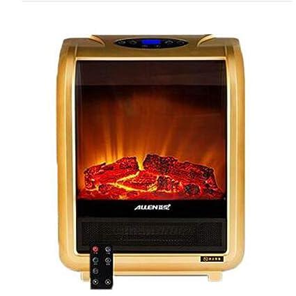 Heater GJM Shop Chimenea Eléctrica Vidrio Templado Llama Atomizadora 3D 1500W Temperatura Constante Inteligente con El