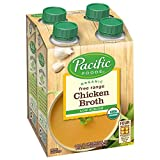 Pacific Foods Organic Free Range Chicken Broth, Low Sodium, 8oz, 24-pack