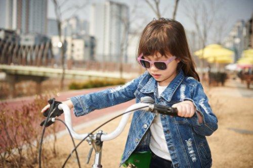 Lunettes de soleil Charmeleon- Enfant 4 à 10 années , vert à rose, et un étui lunettes de soleil Yoccoes - en forme de voiture cubaine