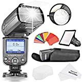 NeewerCOLOR-SCREEN E-TTL Slave Camera Flash Kit for Canon EOS 700D/T5i 650D/T4i 600D/T3i 1100D/T3 550D/T2i 500D/T1i 100D/SL1 400D/XTi 450D/XSi 300D/Digital Rebel 20D 30D 60D 5D Mark III 3 II 2 and Other Canon DSLR Cameras