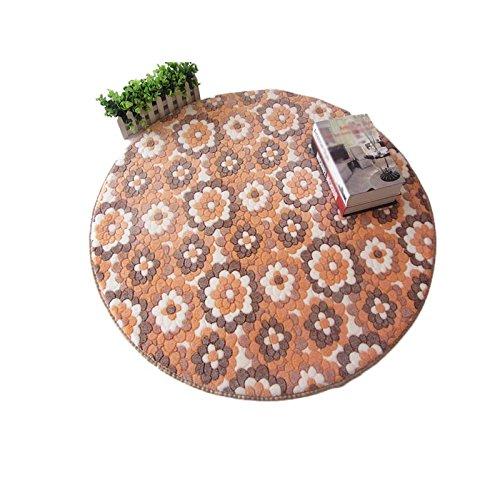 GYP ラウンド厚いノンスリップカーペット、スタディチェアマットベッドルームベッドサイドブランケットリビングルームデスクトイレ浴室吸水軟質マットカーペット60-120cm ( 色 : #7 , サイズ さいず : D120CM )   B07B9RZBZC