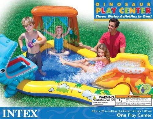 Intex Dinosaur Play Center Inflatable Kids Swimming Pool + Quick Fill Air Pump by Intex (Image #3)
