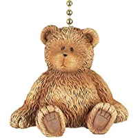 Clementine Designs Brown Teddy Bear Dimensional Decorative Ceiling Fan Light Dimensional Pull
