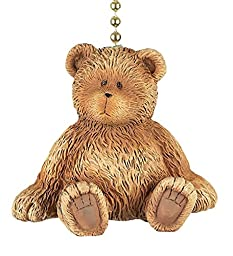Brown Teddy Bear Dimensional Decorative Ceiling Fan Light Dimensional Pull