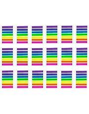 JZK 2128 stuks mini zelfklevende markers kleurrijke zelfklevende notities transparant page marker kunststof index tabs plaknotitieblaadjes voor studie kantoor, decoratieve accessoires als cadeau