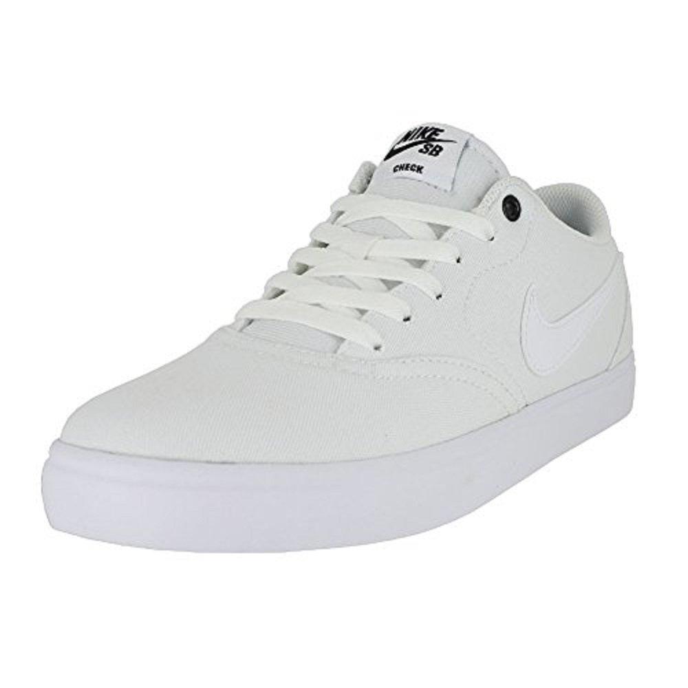 best sneakers 380ef 975be Galleon - NIKE Men s SB Check Solar Canvas Skate Shoe, Sneaker,  White White, 11 US M