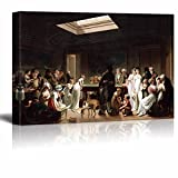 Game of Billiards by Louis Leopold Boilly Giclee Canvas Prints Wrapped Gallery Wall Art | Stretched and Framed Ready to Hang - 32'' x 48''