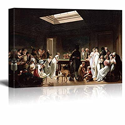 Game of Billiards by Louis Leopold Boilly Giclee Canvas Prints Wrapped Gallery Wall Art | Stretched and Framed Ready to Hang - 16