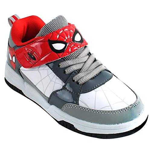 Joah Store Sneakers for Boys Red Gray Shoes Spider-Man (Parallel Import/Generic Product) (9.5 M US Toddler, Spider-Man_A) ()