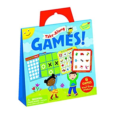 Peaceable Kingdom Take Along Games Reusable Sticker Tote: Toys & Games