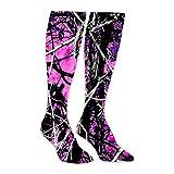 Muddy Girl Camo Pink Athletic Socks Knee High Socks For Men&Women Warmer Stockings Sport Long Sock Tube Long Stockings Casual Socks