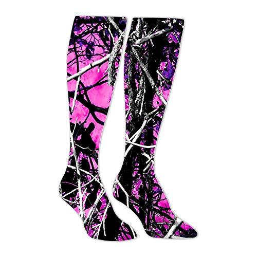 (Muddy Girl Camo Pink Athletic Socks Knee High Socks For Men&Women Tube Long Stockings Casual)