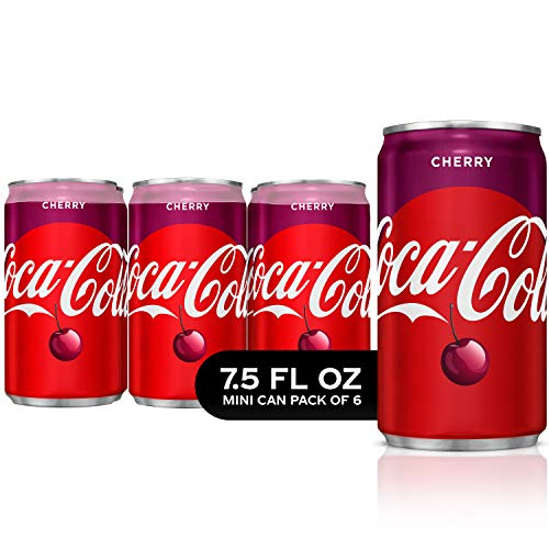 Coca-Cola Cherry Mini Cans, 7.5 Fluid Ounce (Pack of 6)