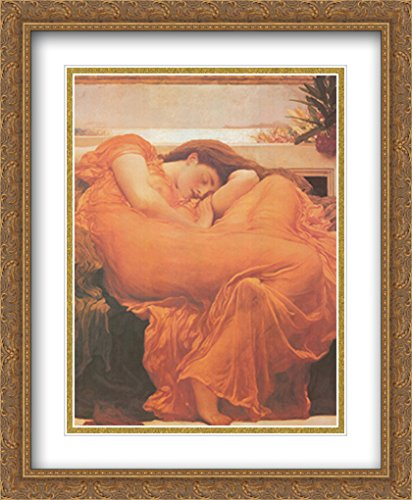 Flaming June, c.1895 2x Matted 28x40 Large Gold Ornate Framed Art Print by Frederic (Flaming June Framed Print)