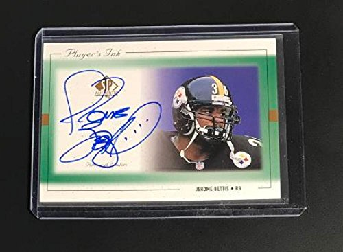 Jerome Bettis Auto Steelers 1999 SP Authentic Players Ink Green #JB-A