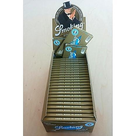 SMOKING ORO GOLD Cartine Corte 1 Box 25 Libretti doppi