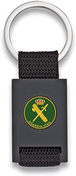 Tiendas LGP Albainox -Llavero Guardia Civil -Lona Negra y Acero Negro Mate-Medidas 8 x 3 cm.: Amazon.es: Equipaje