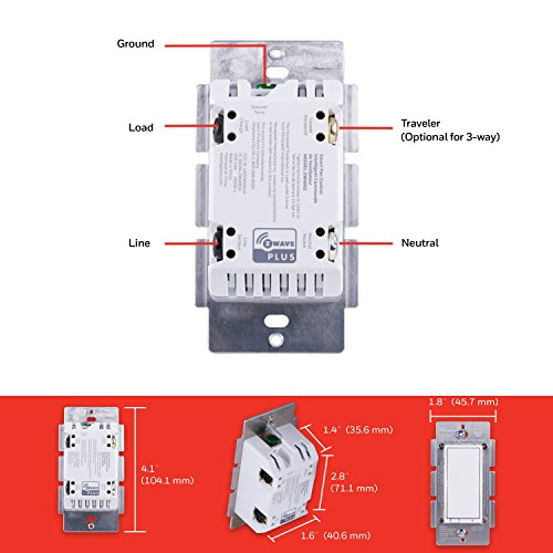 Honeywell Z-Wave Fan Control, In-Wall and Almond Range   Hub Required Wink,