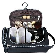 Men Toiletry Bag,ZYSUN Nylon Hanging Travel Toiletries Kit Accessories Bag for Men,Black