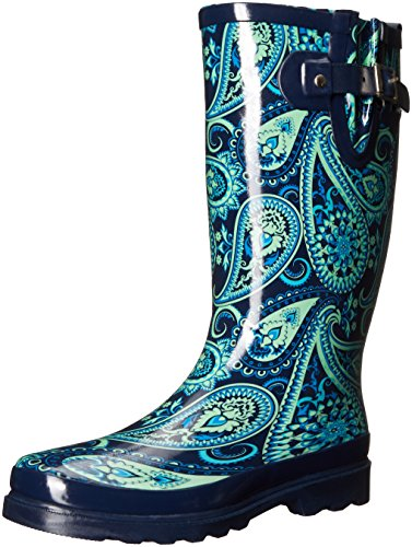 Western Chief Women's Waterproof Printed Tall Rain Boot Wild Paisley 8AuRLg3Nn5