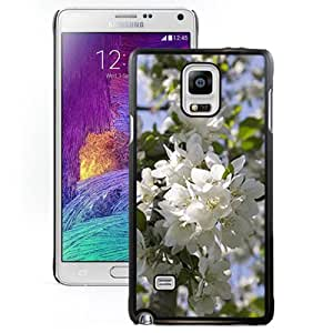 Fashionable Designed Cover Case For Samsung Galaxy Note 4 N910A N910T N910P N910V N910R4 With Blooming Apple Tree Flower Mobile Wallpaper Phone Case