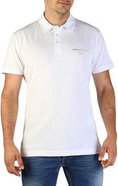 Versace Jeans Polo B3GTB7P7_36610 Hombre Color: Blanco Talla: 46 ...