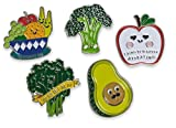 Food With Faces Enamel Lapel Pin Set (Healthy Food Set)