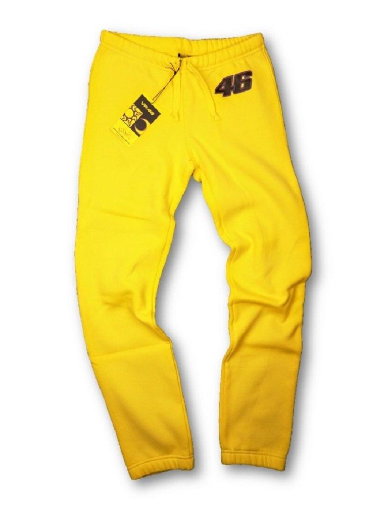 Valentino Rossi-Pantaloni della tuta, da jogging, palestra, colore: giallo CAMAC