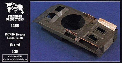 VER1455 1:35 Verlinden M8 Greyhound / M20 Armored Car Stowage Compartments (for use with the Tamiya kit) [MODEL KIT - M8 Armored Greyhound Car