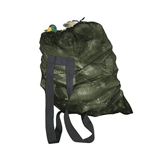 GUGULUZA Duck Mesh Decoys Bag with 2 Shoulder Straps Pigeon/Goose/Turkey Carry Large Decoy Storage Backpack for Hunting (Green)