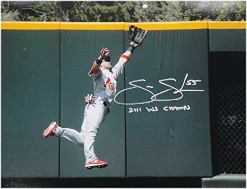 Skip Schumaker Hand Signed 11x14 Photo Cardinals 2011 WS CHamps #55 W/ COA Hand Signed 11x14 Photo