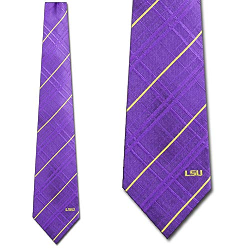 NCAA LSU Tigers Purple Oxford Woven Tie, Model