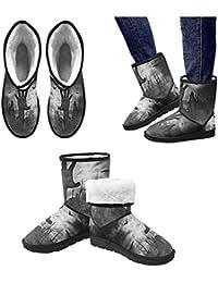 LEINTEREST bullet holes Snow Boots Fashion Shoes For Men