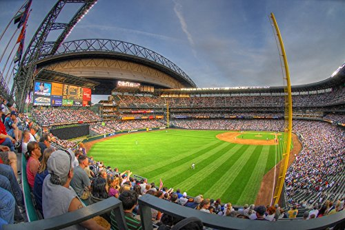 Home Comforts Framed Art for Your Wall Safeco Field Seattle Stadium Mariners Bleachers 10x13 Frame