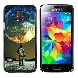 EJOY---Cubierta de la caja de protección la piel dura para el / Samsung Galaxy S5 Mini, SM-G800 / --Luna Colores
