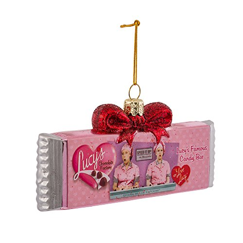 (I Love Lucy Kurt Adler 5-Inch Glass Chocolate Bar Ornament)