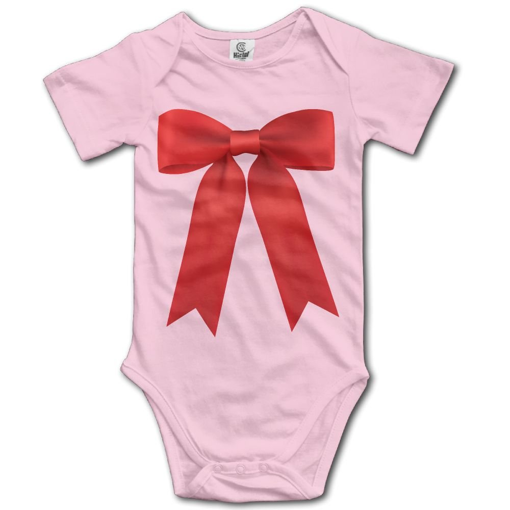 Jaylon Baby Climbing Clothes Romper Red Bow Infant Playsuit Bodysuit Creeper Onesies Pink
