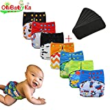 Baby Waterproof AI2 Charcoal Bamboo Cloth Diapers Nappies by Ohbabyka