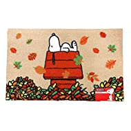 Nourison Peanuts Character Oversized Floor Mat Area Rug, 20-Inch x 32-Inch (Snoopy on House Falling Leaves)