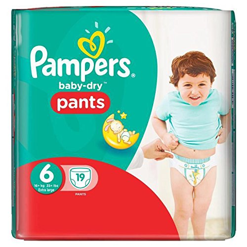 Pampers Baby-Dry Pants Size 6 Carry Pack 19 Nappies 107614336