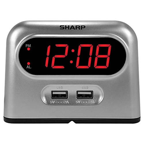 Sharp Digital Alarm Clock Charger