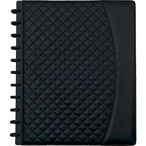 Staples 1739610 Arc System Customizable Quilted PU Leather Notebook System Black