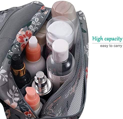 L&FY Multifunction Portable Travel Toiletry Bag Cosmetic Makeup Pouch Toiletry Case Wash Organizer (Gray)